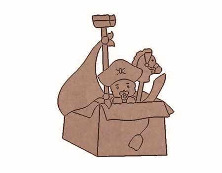 BABY- 001 Silueta Bebé pirata DM Dayka Trade
