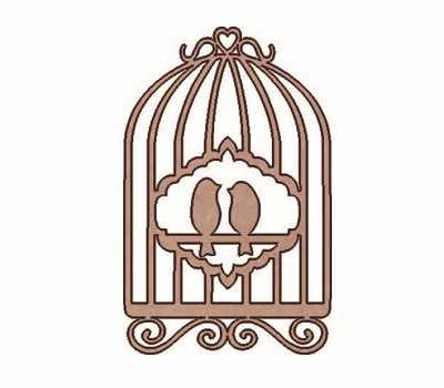 SLT-161 Silhouette Cage with 2 birds DM Dayka Trade