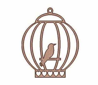 SLT-162 Silhouette Bird Cage DM Dayka Trade