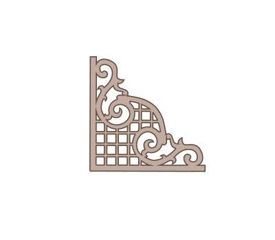 CART-221 Silueta esquinera dayka. Silueta esquinera en cartón, para trabajos de decoración o scrapbooking. Se puede utilizar sin pintar o pintarla con pintura acrílica o Chalk Paint Artis.