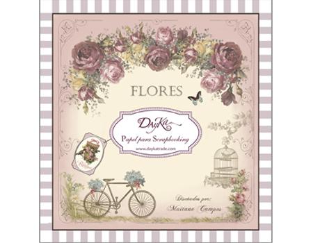 """SCP-1006 BLOCK 24 hojas """"Flores"""""""