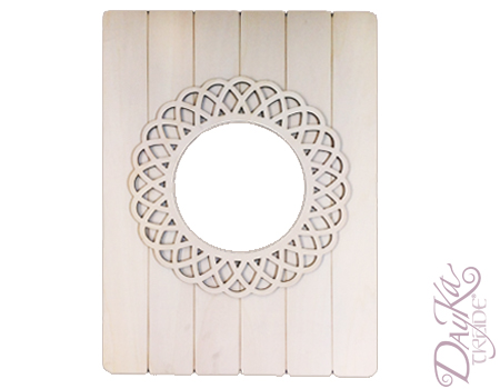 Dayka 081 espejo de tablas con marco redondo dayka trade for Espejo redondo con marco