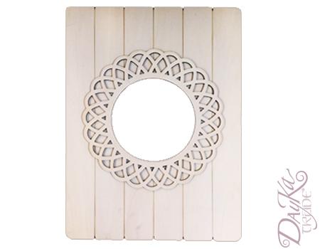 Dayka 081 espejo de tablas con marco redondo dayka trade for Espejo redondo marco madera