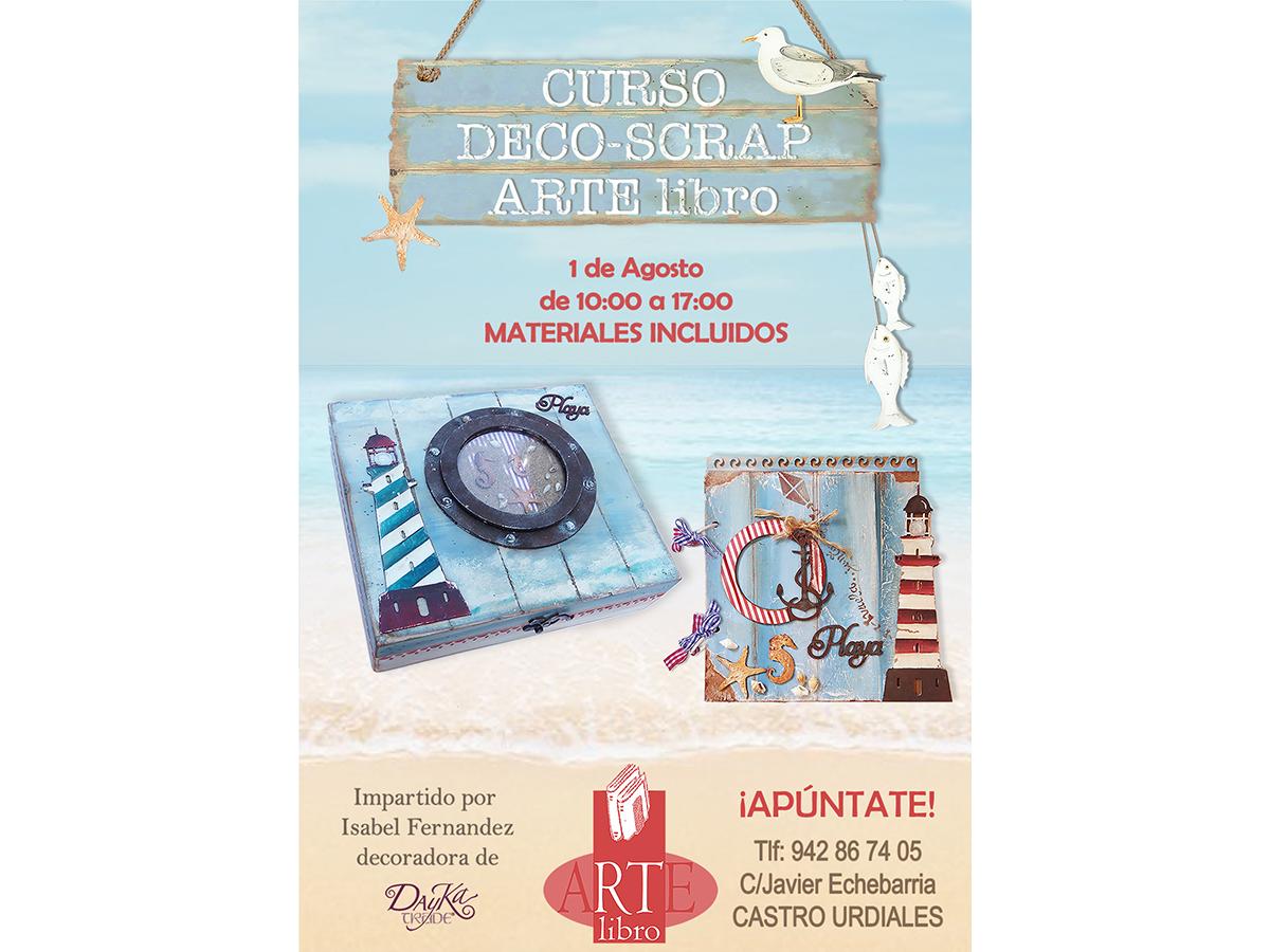 Curso Deco-Scrap Arte Libro Castro Urdiales 1 de Agosto
