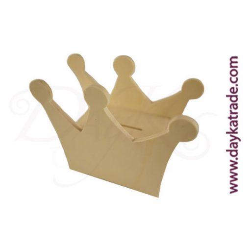 Hucha corona de madera Dayka