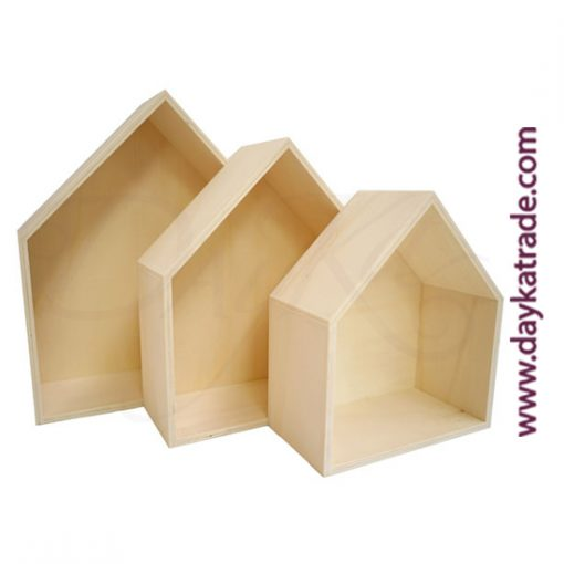 Set de 3 baldas casita de madera Dayka