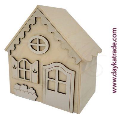 Casa hucha con accesorios