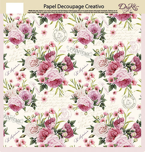 0813422 papel decoupage artis de dayka trade flores - Papel decoupage infantil ...