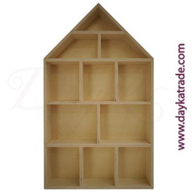 Estanteria casa de muñecas de madera Dayka