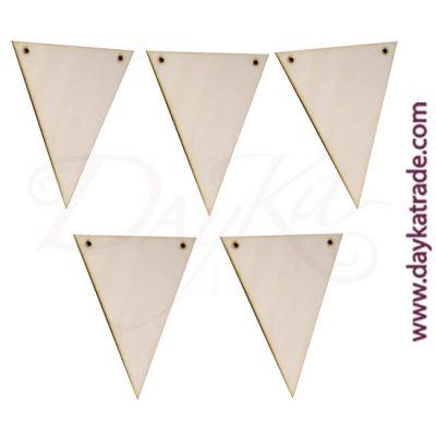 Banderines de madera triángulo Dayka