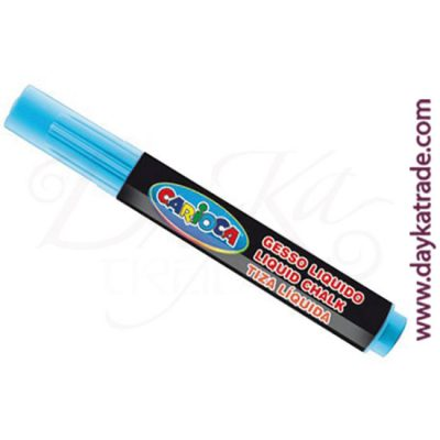 Blue liquid chalk marker for painting on Carioca blackboard.