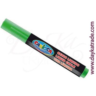 Green liquid chalk marker for painting on Carioca blackboard.