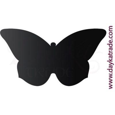 Placa con forma de mariposa. Para escribir con tiza o rotulador de pizarra.