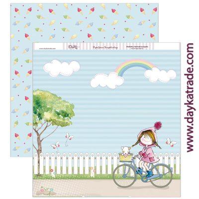 SCP-19 Scrapbooking Dayka Momentos inolvidables para niña en bici