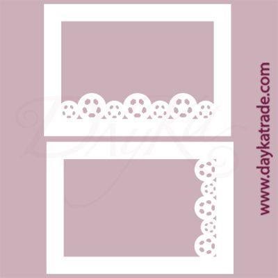 Marco decorativo de fútbol en cartón fino blanco, flexible y adaptable a todas las superficies. Se puede pegar y pintar fácilmente. Se utiliza en vidrio, para trabajos de scrapbooking, pegar en mueble, marcos...