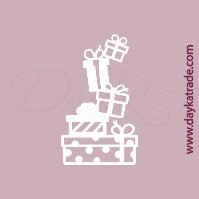 Paquetes de regalo en cartón fino blanco, flexible y adaptable a todas las superficies. Se puede pegar y pintar fácilmente. Se utiliza en vidrio, para trabajos de scrapbooking, pegar en mueble, marcos...
