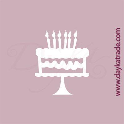Tarta de cumpleaños en cartón fino blanco, flexible y adaptable a todas las superficies. Se puede pegar y pintar fácilmente. Se utiliza en vidrio, para trabajos de scrapbooking, pegar en mueble, marcos...