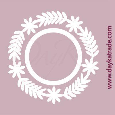 Orla de ramas en cartón fino blanco, flexible y adaptable a todas las superficies. Se puede pegar y pintar fácilmente. Se utiliza en vidrio, para trabajos de scrapbooking, pegar en mueble, marcos...