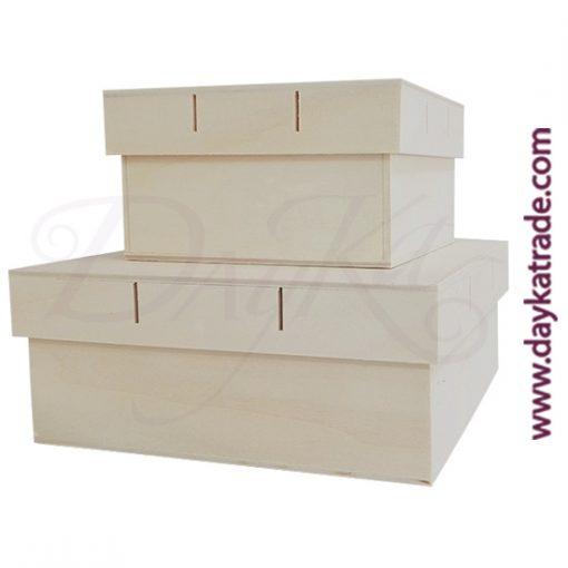 Set de 2 cajas para lazo de 20 x 20 x 8 cm