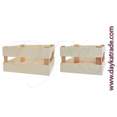 Set of 2 mini fruit boxes 24 x 19 x 12,2 cm