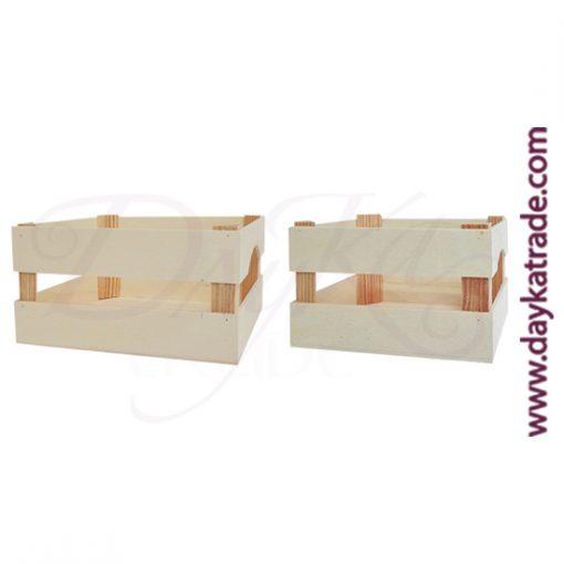Set de 2 cajas de fruta mini de 24 x 19 x 12,2 cm