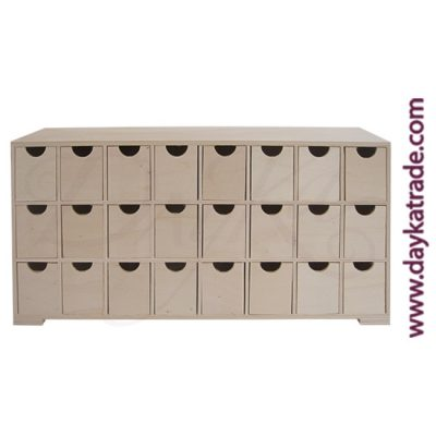24-hole mini-drawer unit, 47 x 28.5 x 8 cm