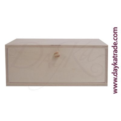 Infusion box with 3 divisions of 23 x 10 x 10.5 cm