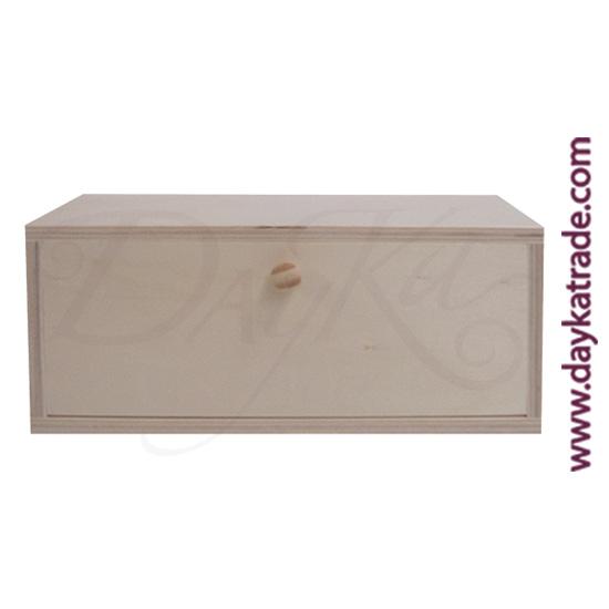 Caja para infusiones con 3 divisiones de 23 x 10 x 10,5 cm