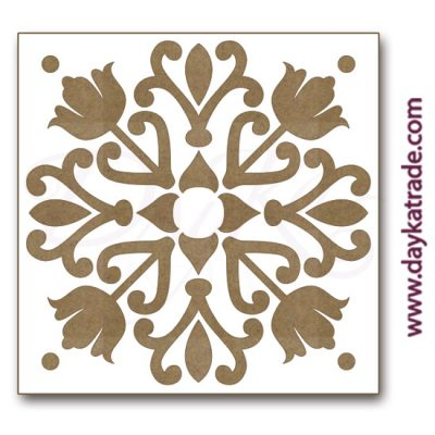 Tile in lacquered board from Dayka trade.