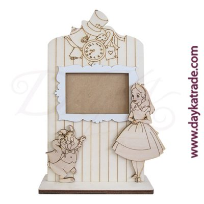 Dayka Trade photo frame in poplar wood with base to decorate.