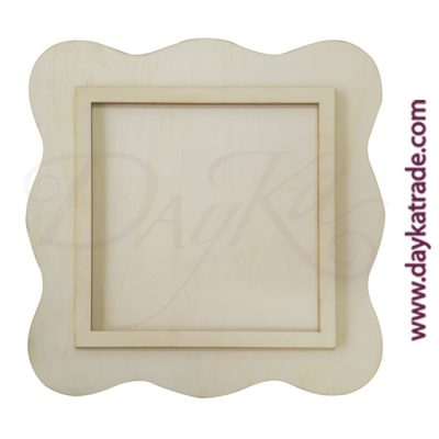 Dayka poplar wood wave frame