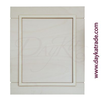 Rectangular industrial frame in Dayka wood