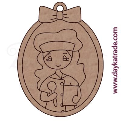 Dolly key ring baker