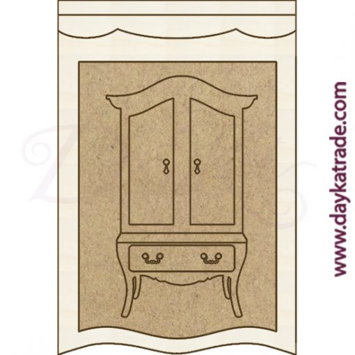 Composición de marco con armario en diferentes piezas de Dayka Trade