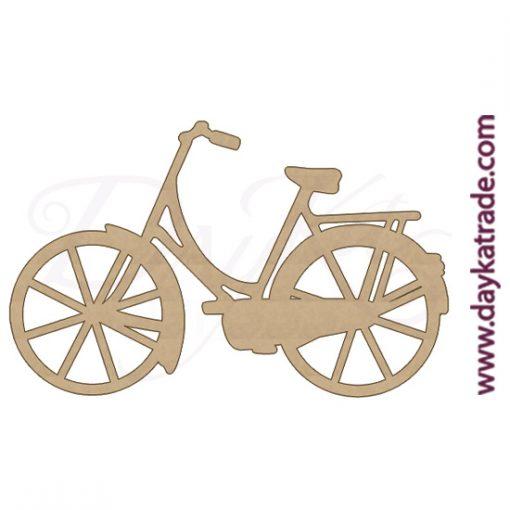Silueta de una bicicleta en madera DM Dayka.
