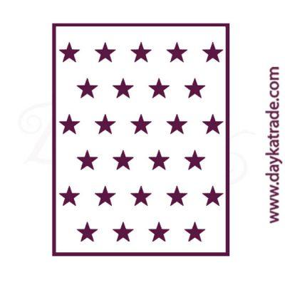 Stencil tamaño A6 (14X10 cm) Dayka de estrellas
