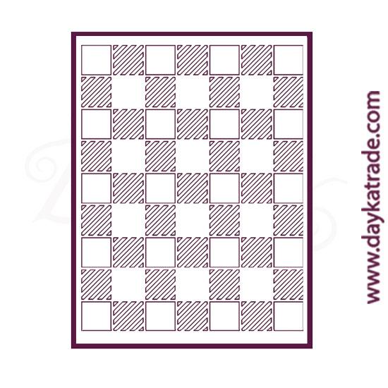 Stencil tamaño A6 (14X10 cm) Dayka de cuadrados