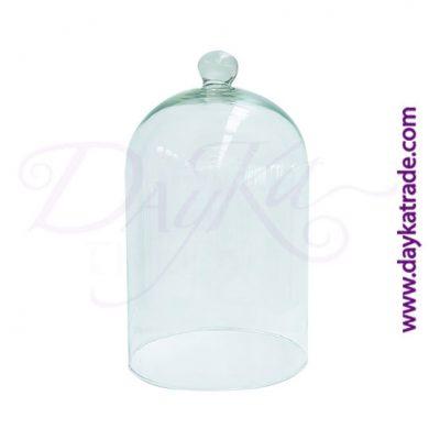Ref:DS50003120 Campana de cristal trasparente con bola de agarre. Producto utilizado para la decoración.