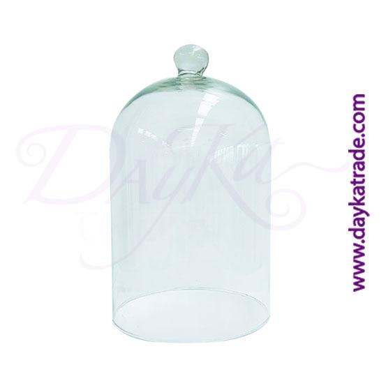 Ref: 116.523720. Campana de cristal trasparente con bola de agarre. Producto utilizado para la decoración.