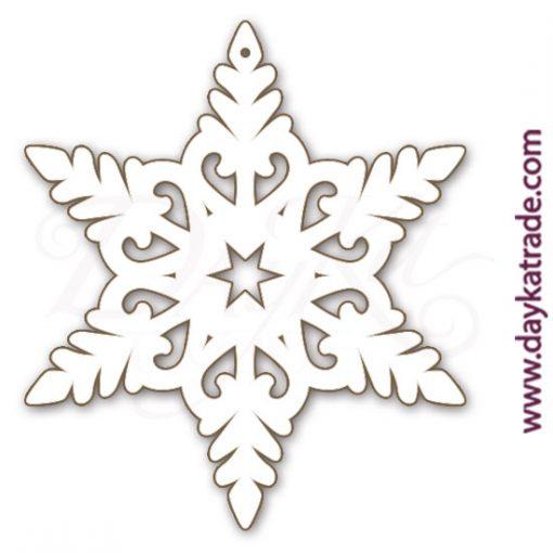 Estrella colgante copo en punta en tablero lacado Dayka.