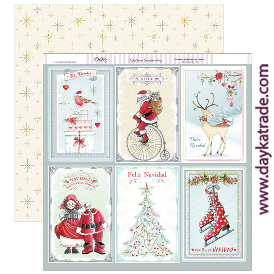 Scp 227 papel scrap tarjetas grandes navidad dayka trade - Tarjetas con motivos navidenos ...