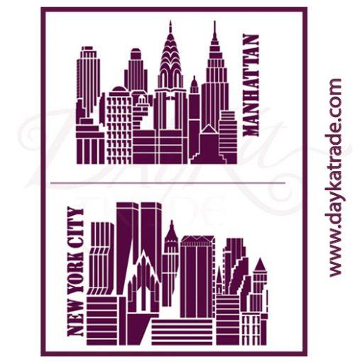 A2-XL5 Stencil A2 Dayka NEW YORK - MANHATTAN