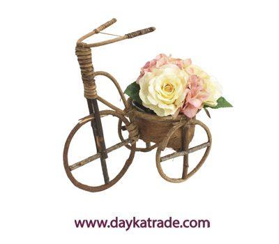 2049-32-000 Bici de tronquitos de madera con tiesto