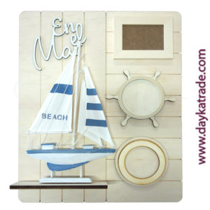 Dayka-525 Portafotos con velero