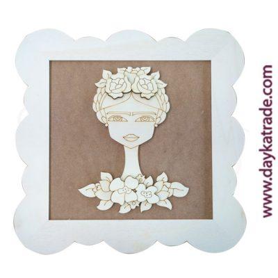 Dayka-533 Frida con flores