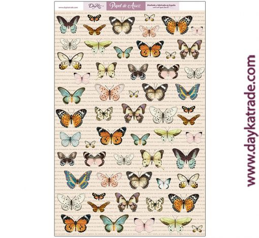 ARR-01 PAPEL ARROZ MARIPOSAS