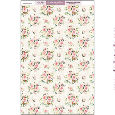 ARR-12 RICE PAPER FLORAL BACKGROUND