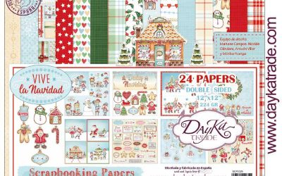 Papeles Scrapbooking Dayka Vive la Navidad