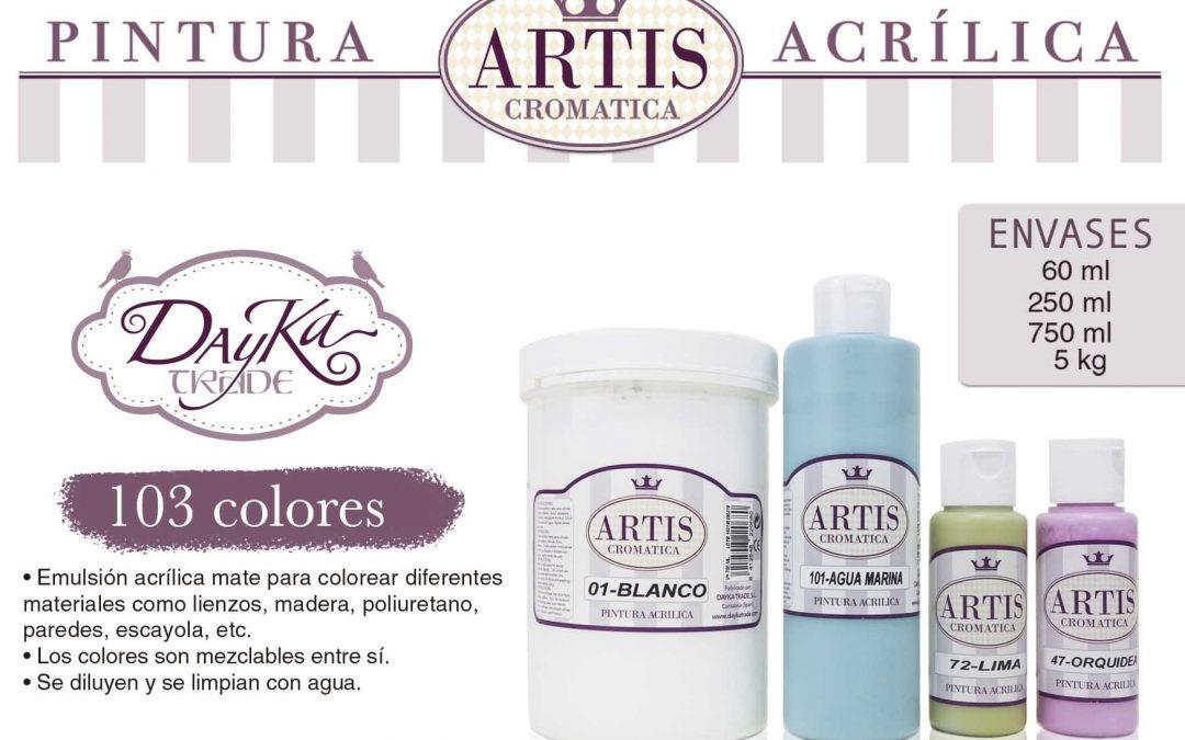 Carta de colores Acrílicos Artis