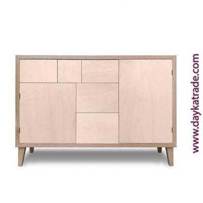 Mueble de madera - Aparador Cajones y puerta - Manualidades Dayka
